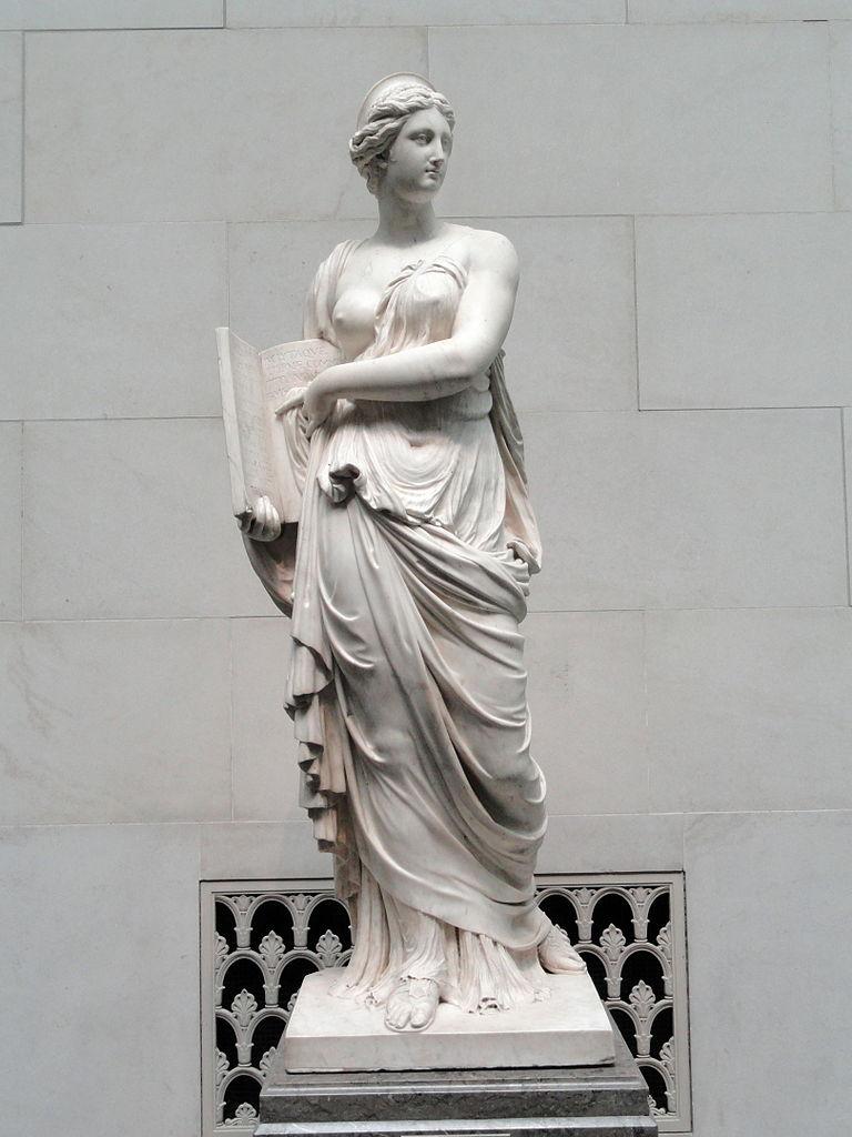 Calliope, muse de l'éloquence (statue d'Augustin Pajou)